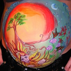 Pregnancy Belly painting