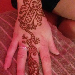Henna at AVJ Christmas party